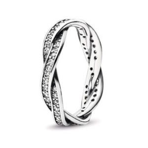 New Pandora Twist of Fate Stackable CZ Ring